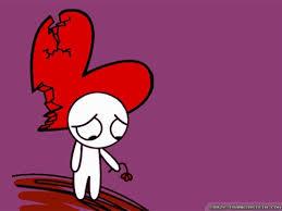 skull broken heart version cartoon