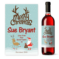 personalised wine label gift
