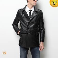 3 4 length leather coat mens cw850812 cwmalls com