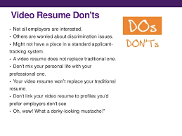video resume video resume sample