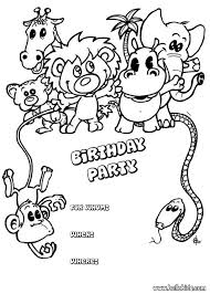 Small Picture Animals birthday party invitation coloring pages Hellokidscom
