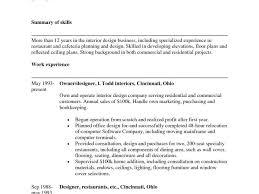 Interior Designer Resume Format Download Lovely Samples For ...