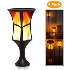 Amazon Com Zdylm Y Solar Torch Lights Flickering Flames Led
