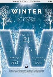 Winter Flyer Template Minimal Winter Flyer Template By Lou24 GraphicRiver 4