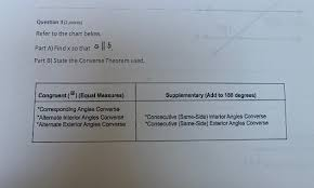 Interior Angles Chart Solved Question 3 2 Points Refer To The Chart Below Pa