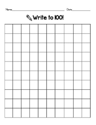 Blank 100 Number Chart Blank 100 Chart 100 Chart Printable 100 Chart Hundreds