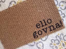 Ello Govna welcome mat. Fun doormats for fun people