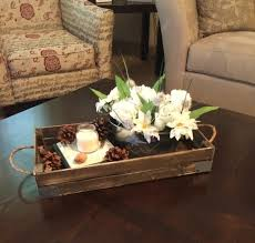 chic dark square rustic wooden coffee table tray ideas high