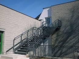 Progettazione Scale Antincendio : Scale antincendio a gradini in acciaio di emergenza