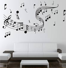 new diy wall stickers creative wall papers musical notation for wall art decoration dance room decals home bedroom children room decorative decals for walls  on creative images wall art with new diy wall stickers creative wall papers musical notation for wall