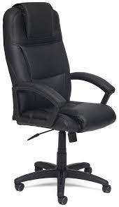 Купить <b>Кресло офисное TetChair</b> «<b>Bergamo</b>» (Искусств. чёрная ...