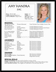 Examples Of Special Skills On Acting Resume Best of Resume Templates Unique Sample Acting Free Download Simple Template