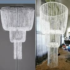 150 able chandelier on left vs homemade chandelier on right costing me a total of 30