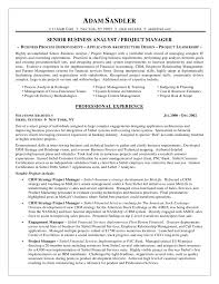 Crm Project Manager Resume Business Analyst Resume Sample Resume Samples 12