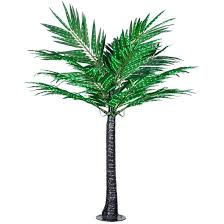 lighted palm trees for patio 6 led deluxe commercial lighted palm tree