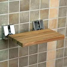 wall mounted shower bench folding seat mount teak bathroom photo with charming hom