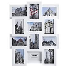 multiple picture frames. VonHaus 12 X Decorative Collage Picture Frames For Multiple 4x6 Photos - White Wooden Hanging Wall Photo Frame