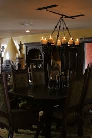 avila gothic meval chandelier avila old world spanish chandelier displayed in the dining room