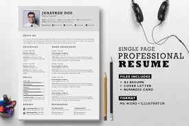 Professional Resume Set Resume Templates Creative Market