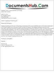 Bunch Ideas Of Cover Letter Examples For Teaching Assistant With No