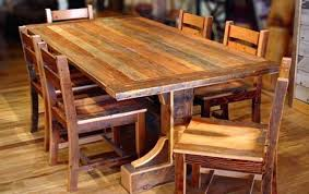 distressed wood dining set rustic chairs tables natural and iron di