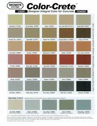 Concrete Stamping Color Chart