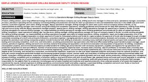 Operations Manager Drilling Manager Deputy Opera Resume Cover