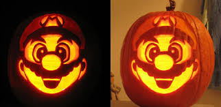 Halloween Pumpkin Carving Ideas  For all those Nintendo freaks - Super  Mario carving.