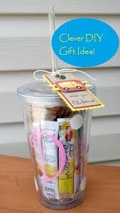 diy office gifts. Clever DIY Gift Idea For The Office Christmas Party Etc. Monogrammed  Reusable Cup With Several Diy Gifts