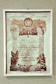 Музей Мир времени Диплом й Московской выставки служебных  Диплом 1 й Московской выставки служебных собак организованной Осоавиахимом в мае 1929 года