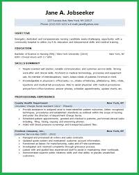 Resume Objective Nursing Student Professional Resume Templates