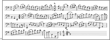 A Music Staff A Musical Sheet Containing Music Symbols Overlaid In Staff Lines