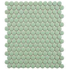 Merola Tile Metro Penny Matte Light Blue 9-3/4 in. x 11-1/2 in. x 6 mm  Porcelain Mosaic Tile (8 sq. ft. / case)-FXLMPML - The Home Depot