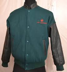 air canada by adteam canada men s varsity jacket with leather sleeves m 14 1 2 kg