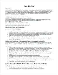 Example Teaching Resumes Teaching Resume Formats Sample Format For