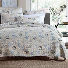 CHAUSUB 100% Cotton Quilt Set 3PCS Sea World Printed Quilts ... & CHAUSUB 100% Cotton Quilt Set 3PCS Sea World Printed Quilts Quilted  Bedspread Coverlet Set Bed Adamdwight.com