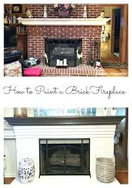 replace brick fireplace how to paint a refacing with stone veneer slate tile
