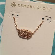 kendra scott jewelry rose gold drusy elisa necklace poshmark kendra scott elisa necklace rose gold