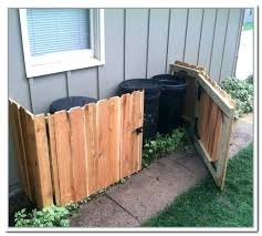outside trash storage garbage outdoor wooden bin can plans