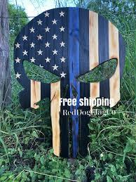 wood punisher skull wood punish flag