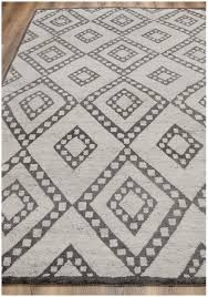rugsville moroccan beni ourain double diamond wool charcoal rug 37012
