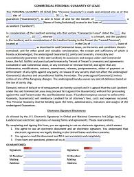 Commercial Lease Download Personal Guarantee Agreement Forms Leases Loan PDF 14