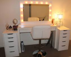 vanities for bedroom with lights awesome makeup vanity cool mirror pertaining to 19