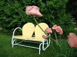 Image of: Vintage Metal Patio Chairs Yellow