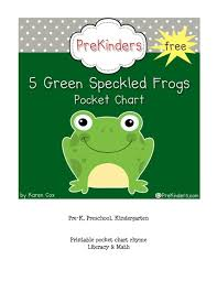Five Green Speckled Frogs Pocket Chart Printables Template
