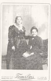 Isabella (Blair) Breckon and Lissie Crane of Whitby: Trafalgar Township  Historical Society Digital Collections