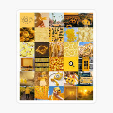 Yellow aesthetic picture collage ...
