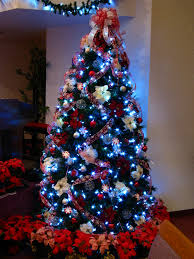Red And White Led Christmas Tree Lights Candy Cane Christmas Tree With White Led Lights An Overall