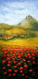 large oil paintings on canvas for wall painting landscape palette knife