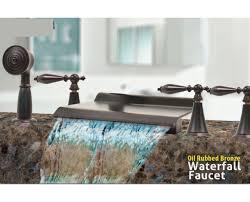 roman tub faucet with hand shower. Tub-Waterfall-roman-bathtub-Triple-handle-Bath-faucet- Roman Tub Faucet With Hand Shower